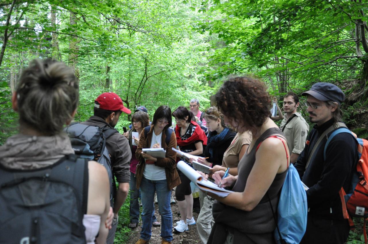 Etudiants naturopathes en stage phytothérapie 2012